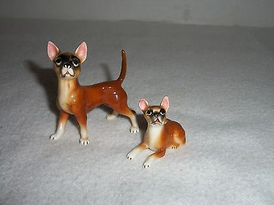 Vintage Miniature Chihuahua Dog & Puppy Figurines