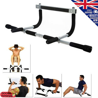 Door Gym Pull Up Bar Home Exercise Strength Workout Fitness Chin Ups Sit Ups Bar