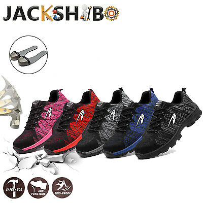Mens Work Safety Steel Toe Cap Boots Outdoor Industrial Breathable Hiking Shoes