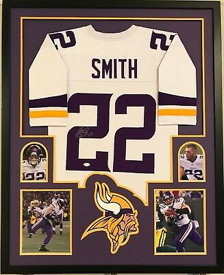 be84c81db38 Framed Harrison Smith Autographed Signed Minnesota Vikings Jersey Jsa Coa