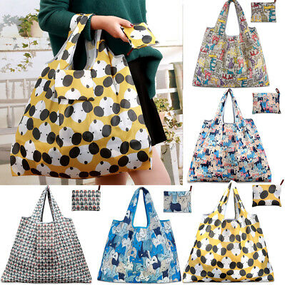 Reusable Eco-Friendly Shopping Bags Foldable Pouch Handbag Fruit Grocery Tote