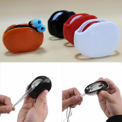 HOT Automatic Roll Wrap Headset Earphone Cable Organizer Headphone Cord Winder
