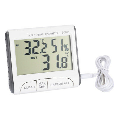 Outdoor Indoor Digital LCD Weather Max Min Thermometer Hygrometer Humidity Meter