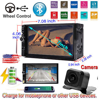 "7"" DOUBLE 2DIN Car MP5 Player Bluetooth Touch Screen Stereo Radio HD for Ford US"