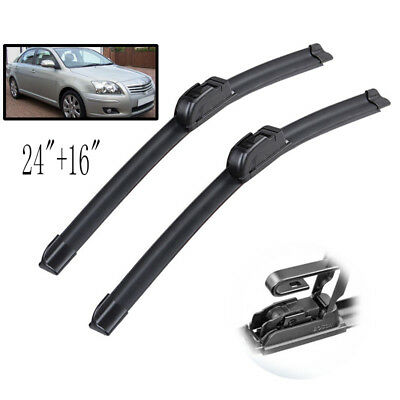 "2PCS Front Windscreen Wiper Blades Set Fit For Toyota Avensis T250 03-09 24""16"""