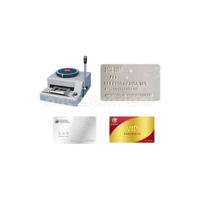 PVC/ID/Credit Card Embosser Code Printer 68-Character Manual Stamping Machine/