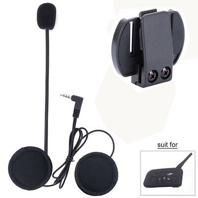 Wired Headset Mic/Speaker & Clip for V4/V6 Motorcycle Bluetooth Helmet Intercom