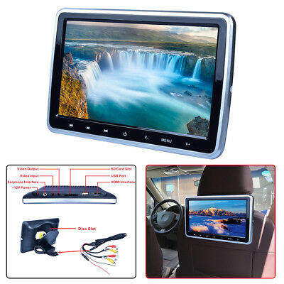 "10"" Car Digital LCD Screen DVD LCD Headrest USB SD Monitor Game IR/FM Player"