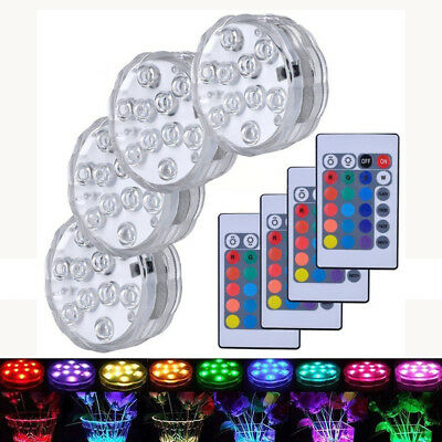 Floating Underwater RGB LED Disco Light Glow Show Swimming Pool Spa Lamp 4 Pack