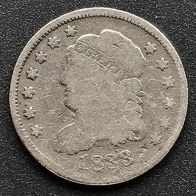 1833 Capped Bust Half Dime 5c nice coin #6207