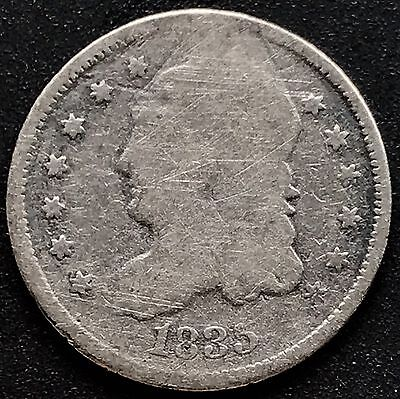 1835 Capped Bust Half Dime 5c nice coin #6211