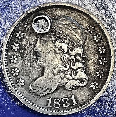 1831 Capped Bust Half Dime 5c nice VF - XF Details holed #5636