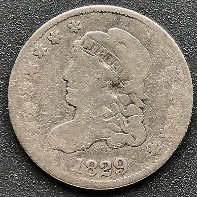 1829 Capped Bust Half Dime 5c nice coin #6199