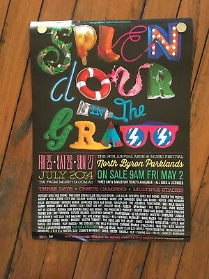 Splendour In The Grass 2014 Poster- Used Once! OutKast/ ILLY/ Vance Joy.