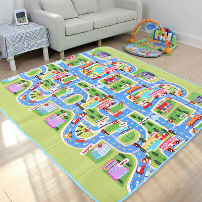 200 X 160Cm 2 Side Kids Crawling Educational Game Baby Play Mat Soft Foam Carpet