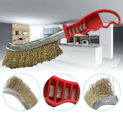 Crimped Wire Cleaning Brush Barbeque BBQ Grill Brushes &Metal Scraper Clean Tool
