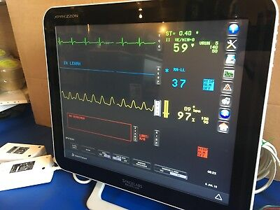 SPACELABS XPREZZON Touchscreen Exprezzon Patient Monitor SPO2 Unit ECG NIBP