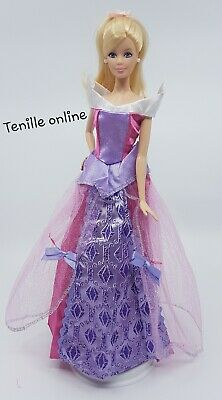 New Barbie clothes outfit princess wedding gown dress navy blue and shoes x1