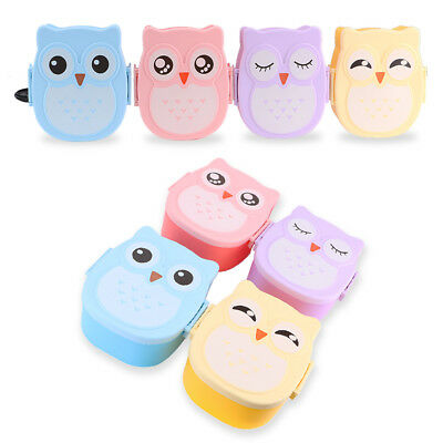 Cute Owl Kids Lunch Box Food Container Bento Lunch Boxes With 2-Compartment
