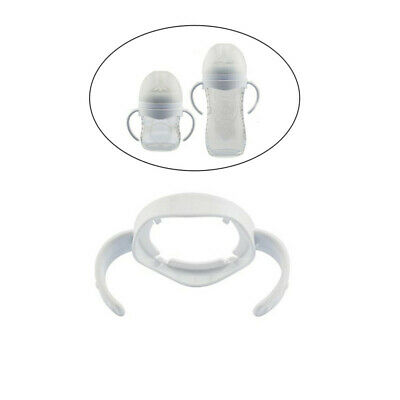 1/3/5Pcs White Baby Bottle Infant Grip Handle Toddler Natural Wide Mouth Feeding