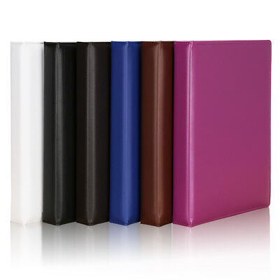 Fashion Durable Leather Cover 3 Ring Binders A4 Business File Folder Portfolio