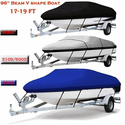 New 17 20 21-24 Ft Waterproof Heavy Duty Fabric Trailerable Pontoon Boat Cover