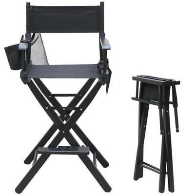 Portable  Chair Professional Black Folding Makeup Artist Directors Salon