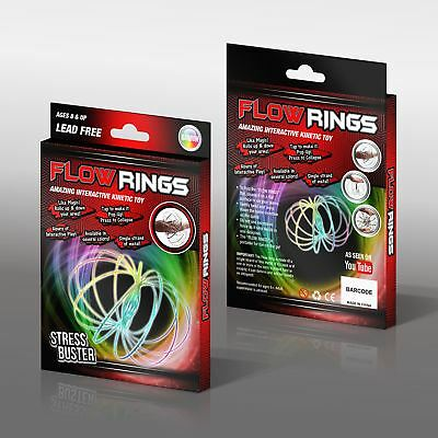 Rainbow Kinetic Magic Flow Rings Spring Juggle Arm Slinky Free Flow Toy Dance