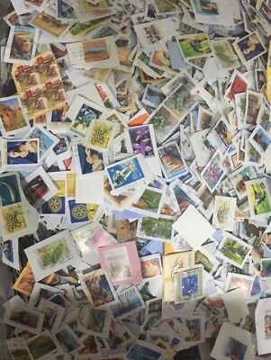 500 Fine Used Australian Stamps on Paper Kiloware
