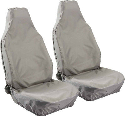 HD WATERPROOF GREY FRONT SEAT COVERS for VAUXHALL AGILA (09-11)