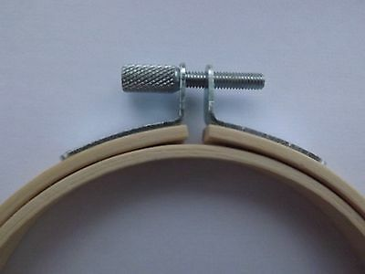 Bamboo Wooden Hoop/Ring ideal for Embroidery Cross Stitch Sewing 4 inch