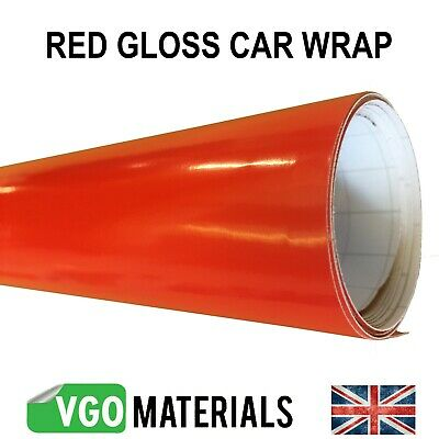Quality Red Gloss Vinyl Car Motorbike Wrap Air Release Bubble Free CW3317