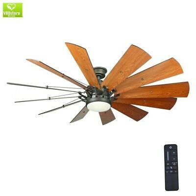 Windmill Ceiling Fan 60 Large Led Light Remote Casual Farmhouse Rustic Cabin
