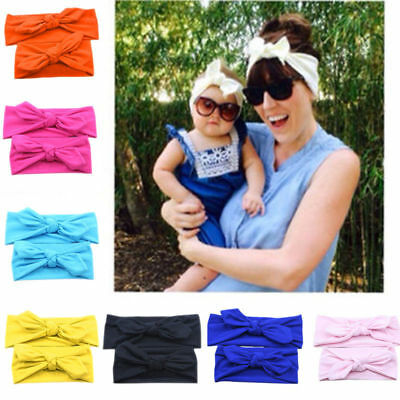 1 Set Mom&Baby Head band Infant Girls Head Wraps Cotton Elastic Bands