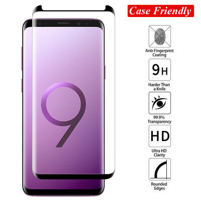 6D Full Glue Tempered Glass Film Screen Protector for Samsung Note 9/S8 S9 Plus