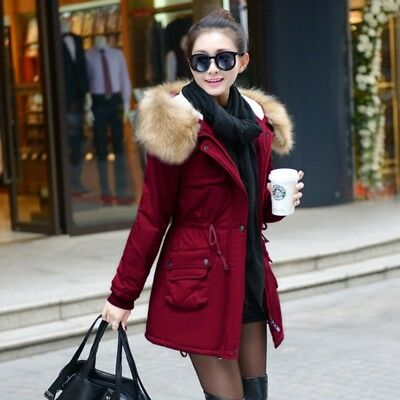 Winter Jacket Women Faux Fur Coat With Hood Winter Jacket Thicken Female Parka