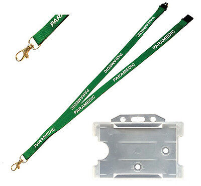 Lanyard Printed PARAMEDIC with Free ID Holder- First Responder Ambulance