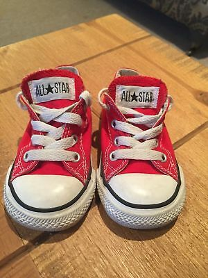 d5dfba414e72 INFANT GIRLS OR Boys Red Converse Shoes Size 5 -  14.95