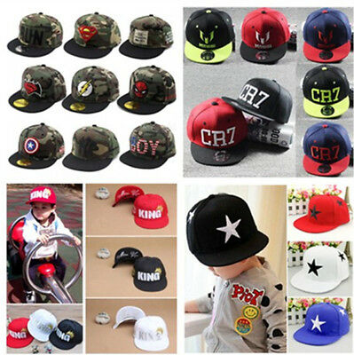 2018 New Boys Girls Kids Baseball Cap Hiphop Bboy Snapbacks Toddler Sun Hat Gift