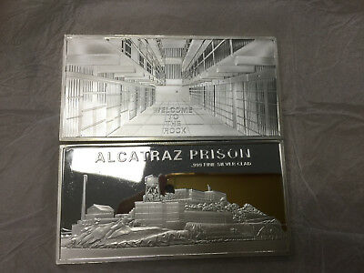 Extremely Rare! Alcatraz Prison USA Silver Plated 999 Clad LE of 150 Coin Bar