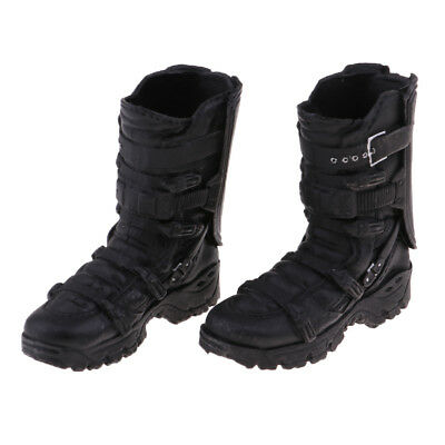 1/6 Scale Male Fashion Black High Ankle Boots for 12'' Phicen Kumik Hot Doll