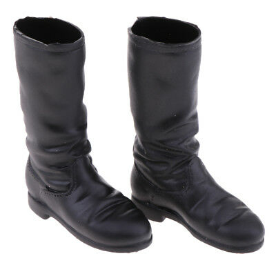 1/6 Female Fashion Mid-calf Knee Low-heeled Boots for 12'' Phicen Hot Doll