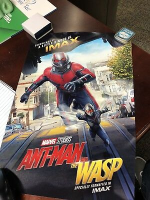 Marvel's Ant Man and the Wasp Original IMAX poster 13x19