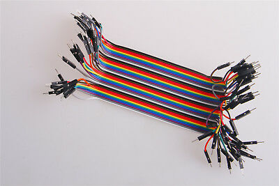20CM 2.54mm A Row of 40 Roots Dupont Wire Cables Jumper Connector Male to Male