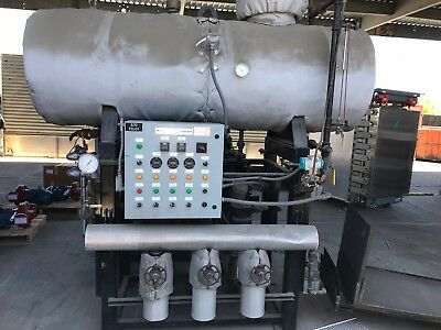 Parker Boiler deaerator tank with pumps