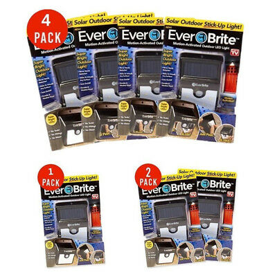 1&2&4 Everbrite Solar Powered & Wireless Ever Brite Led Outdoor Light AS ON TV