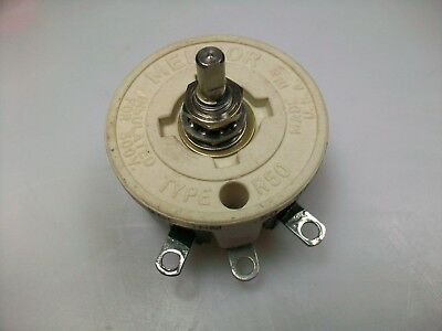 "Memcor  200 Ohm  50 Watt  Rheostat  1/2"" Shaft"