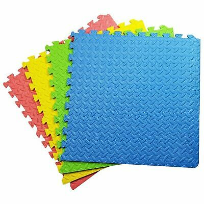 Large (60cm x 60cm) Kids Interlocking Mat Play mats Soft Foam Exercise Yoga Gym