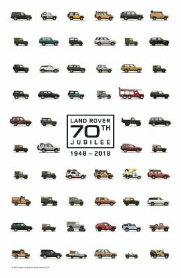 Official Land Rover Merchandise 70th Jubilee Poster