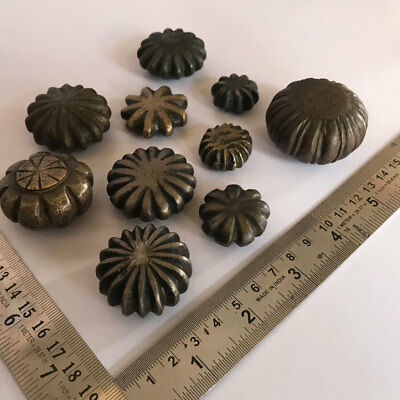 Whole sale group of 10pcs old antique Opium Bell Metal Bronze Scales Weight